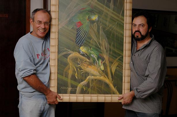 Renato e André3 A arte desce a Serra para ser vista e apreciada