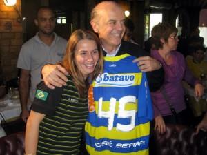 serra patricia 300x225 Patrícia Amorim, a presidente do Fla, quase vice de Serra