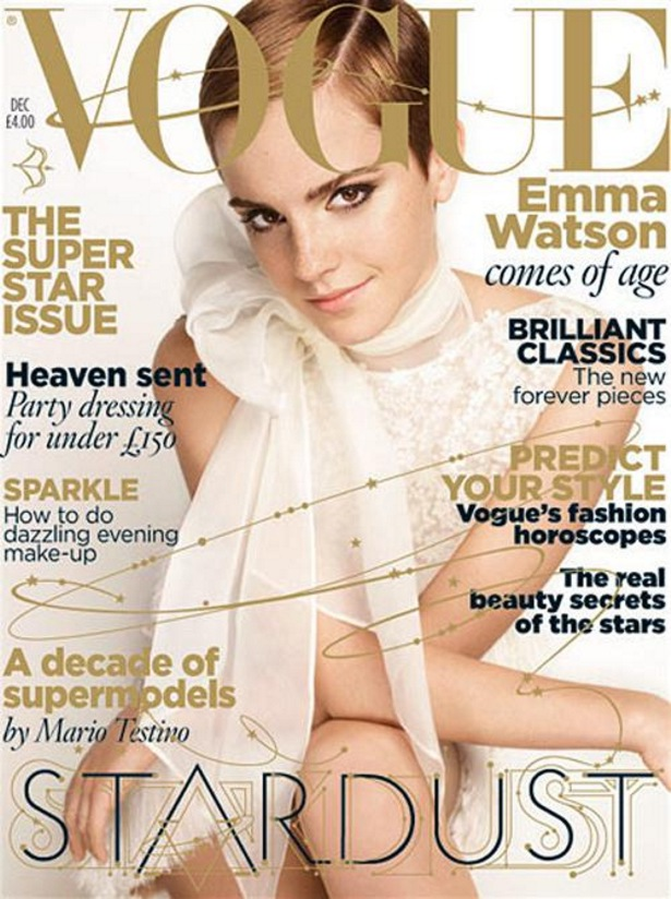 "Emma Watson Vogue UK Dec Covera Emma Watson: a""bruxinha"" que virou it girl"