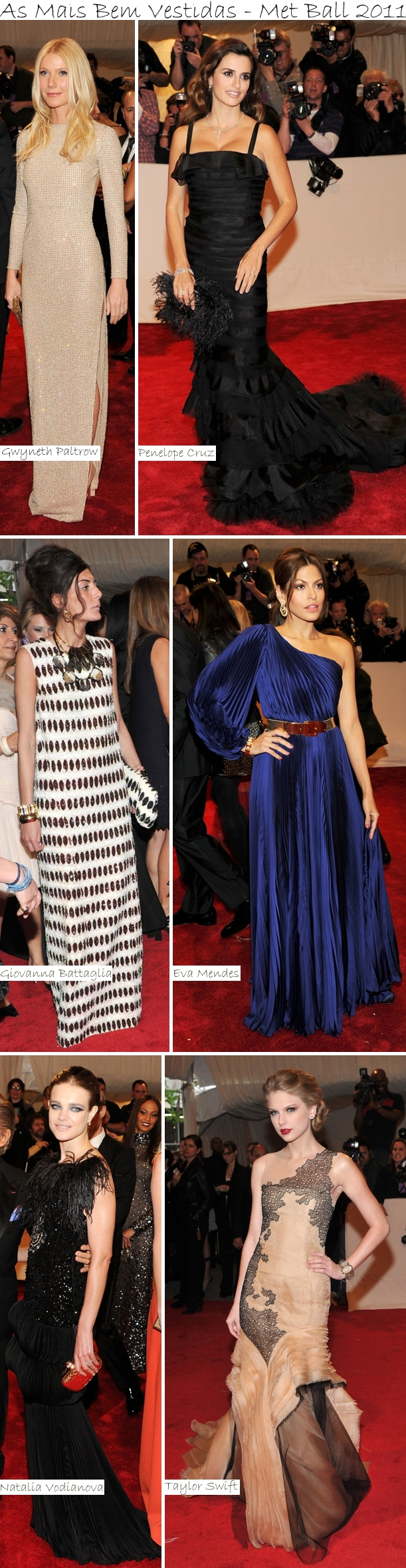 As Mais Bem Vestidas Met Ball 2011 Vote: As Mais Bem Vestidas do Met Ball 2011