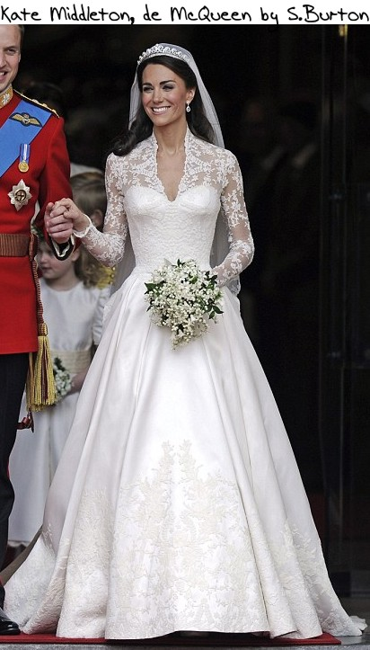 Kate Middleton de McQueen McQueen X Galliano X Armani