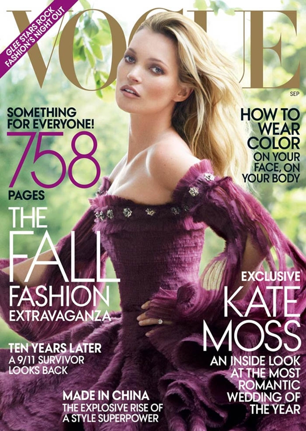 kate moss5 Kiss me, Kate... Na Vogue US!