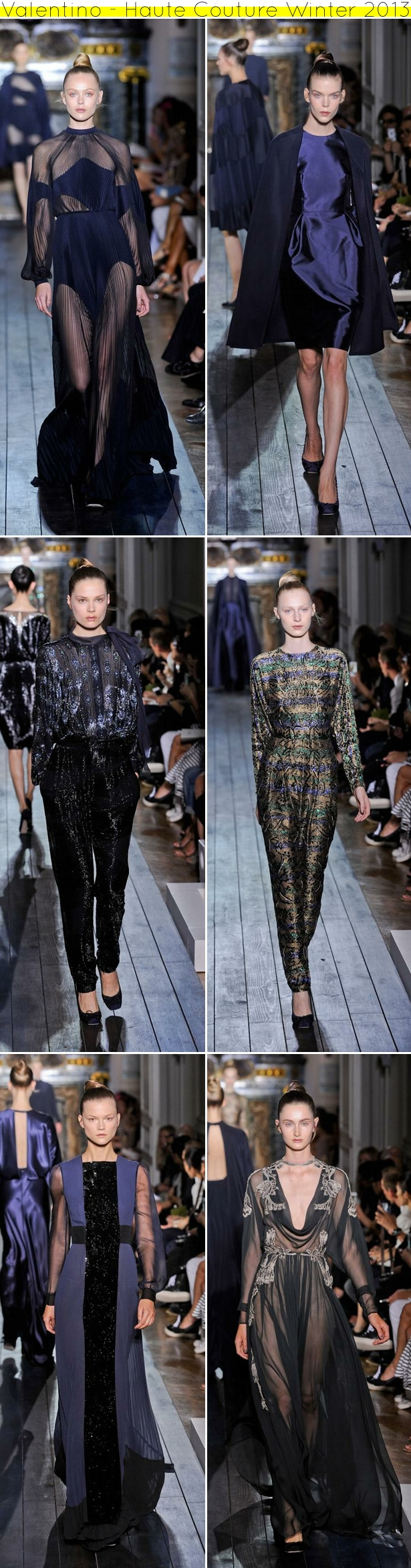 Valentino Haute Couture Winter 2013 Valentino blue!