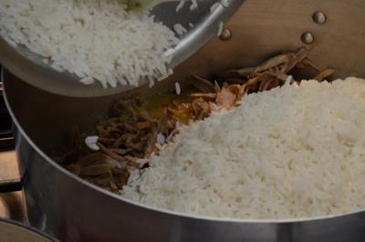 05 O arroz branco já cozido