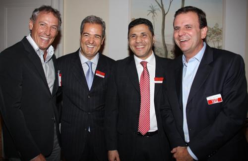 Lide-diretores da record  Eduardo Godoy  Thomaz Naves  Claudio Rodrigues e Eduardo Paes