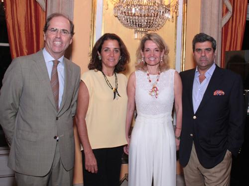 Maria João-consul de Portugal  Nuno e Ana Rita Bello com Maria João Bahia e o marido Antonio Mello