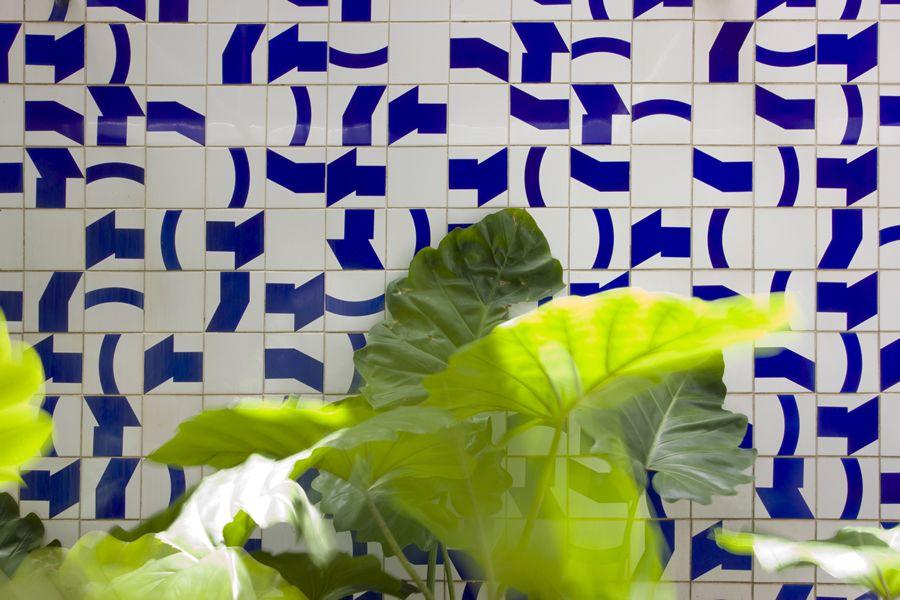 Camara dos Deputados Sal_o Verde (jardim interno) Painel de Azulejos Arq Oscar Niemeyer 1971 (Fot