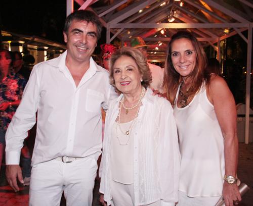 Hípica-Eva Vima com o filho Johnnie Herbert e a empresária  Marina Gomide