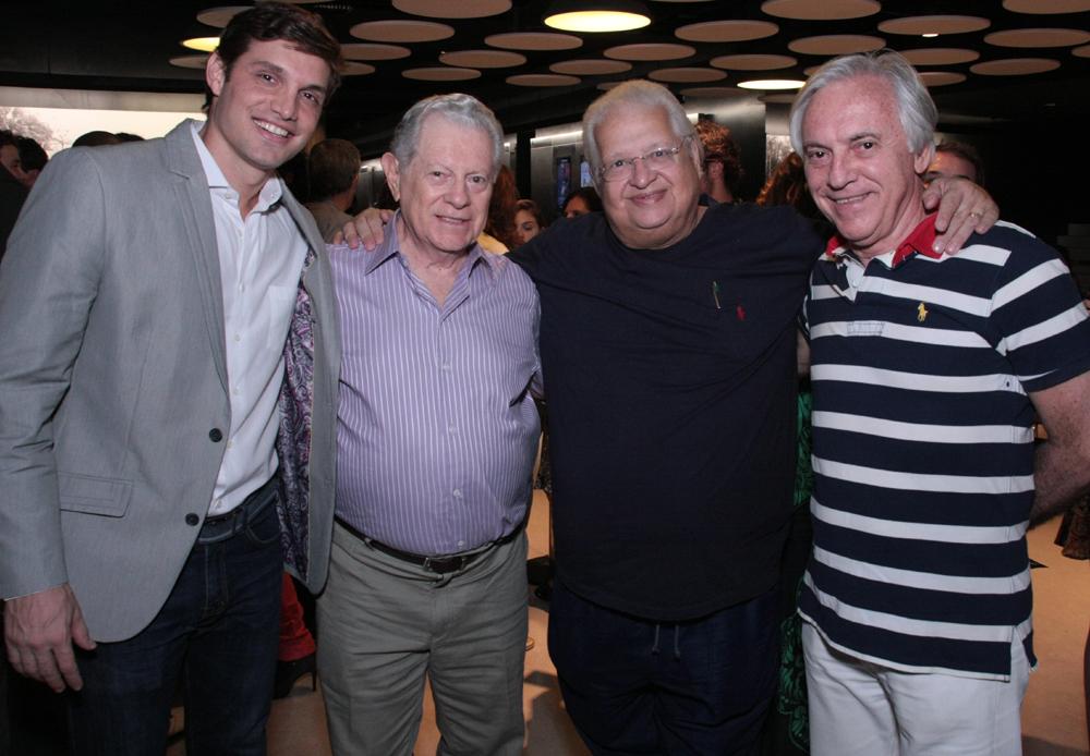 Alexabdre Machafer, Arnaldo Niskier, Carlos Serpa e José Dias