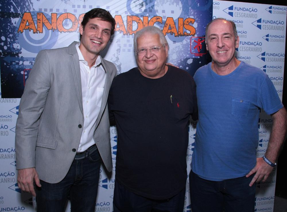 Alexandre Machafer, Carlos Serpa e o autor do filme Decio Coimbra