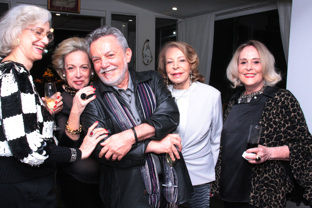 Luciana Alencastro, Maria celia Moraes, Mario Borrielo, Ilka Bambirra e Regina Priolli