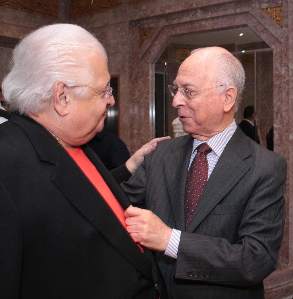 Carlos Serpa e Antonio Celso Pereira - reitor da PUC