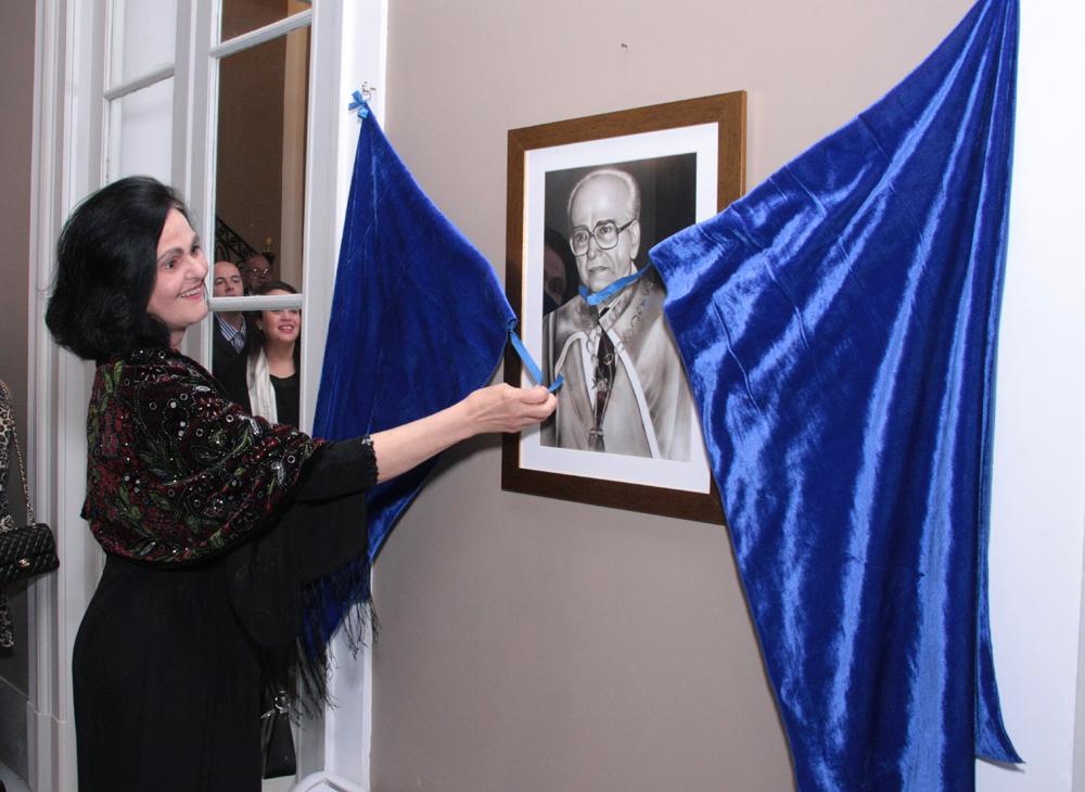 Maria Judith Sucupita Lins inaugura o salão com o nome do sócio Fundador da Cesgranrio- Newton Sucupira-